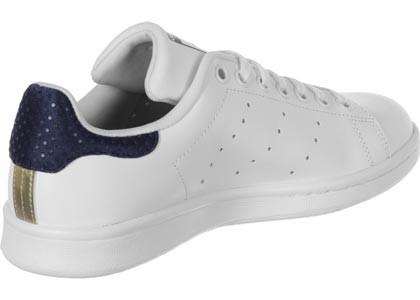 adidas stan smith blanc bleu femme