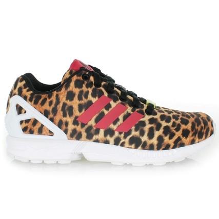 adidas zx flux leopard femme