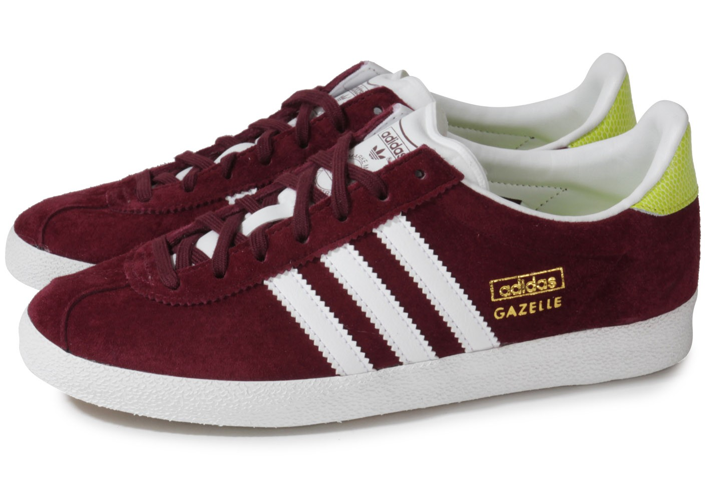Rouge Adidas Originals Gazelle Baskets Bordeaux Bb5255